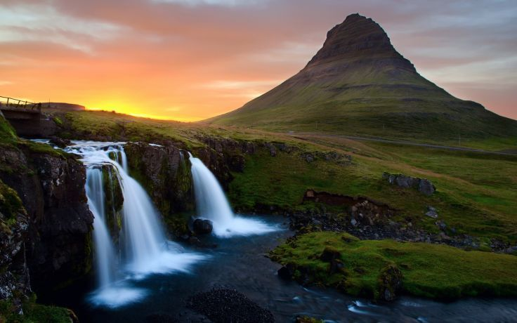 Mountains Landscapes Nature Iceland Waterfalls Wallpaper Background Waterfall Wallpaper Iceland Wallpaper Waterfall