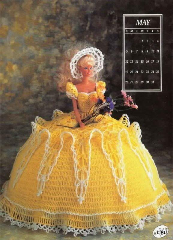 42 best vestidos al crochet para muñecas barbi images on Pinterest ...