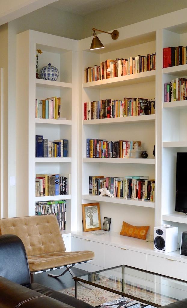 Bookcase. I like the thick shelves. Need interior light.