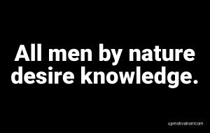 All men by nature desire image