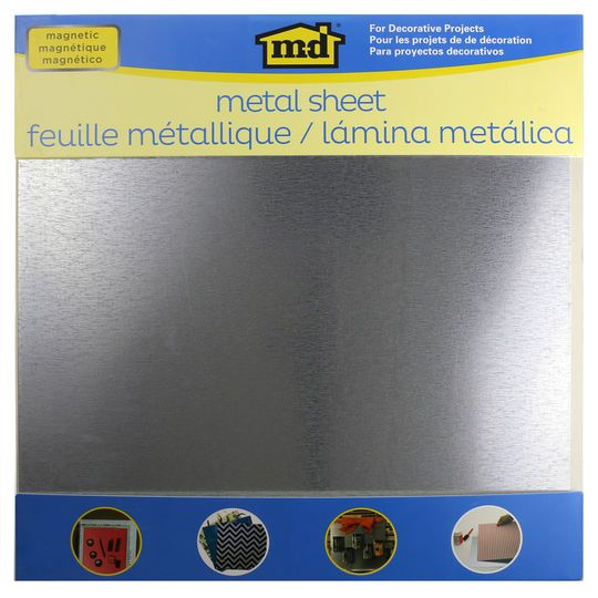 "MD® Hobby & Craft Magnetic Galvanized Steel Sheet, 12"" x 12"""