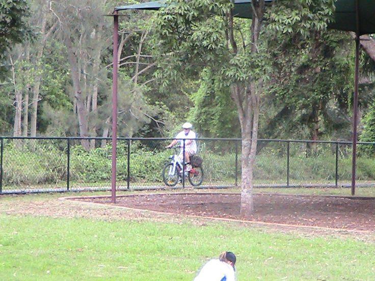 Bike rider at Dorrington Park