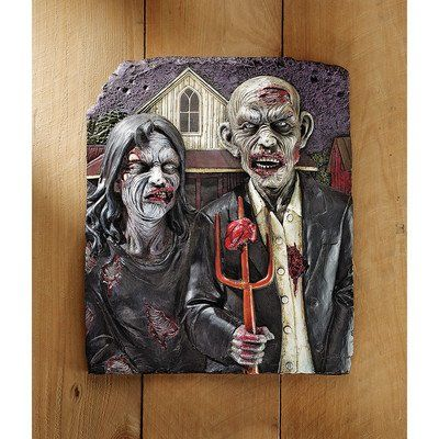 Design Toscano Zombie Gothic Wall Sculpture Multicolored @ niftywarehouse.com #NiftyWarehouse #Zombie #Horror #Zombies #Halloween