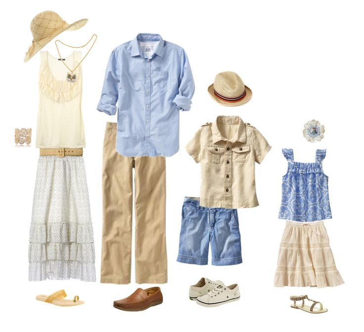 white/blue/khaki What to wear. Summer family portraits.