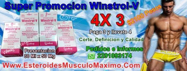 Super promocion Winstrol -V - 4 x3 - Precio ( $2100 Pesos ) 30 ml x 50 mg c/u