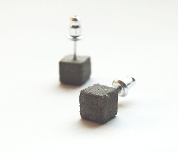 Concrete Earring Studs Uncovet