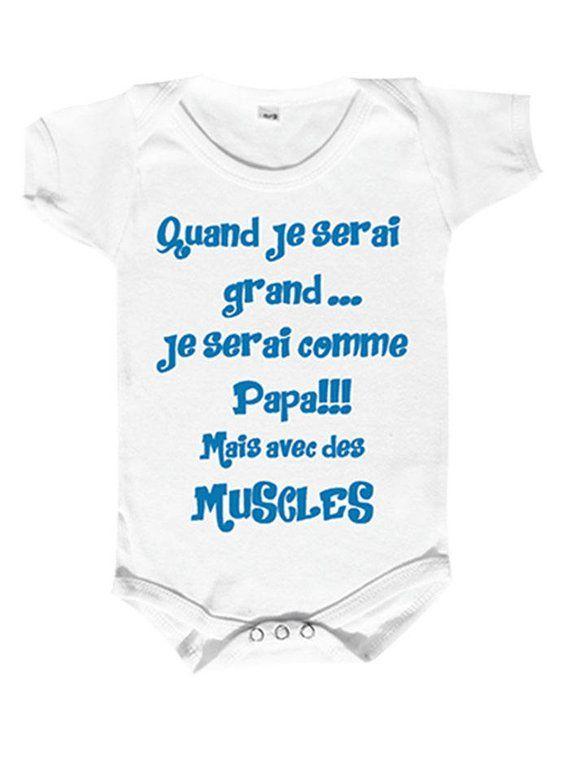 Body Bébé Humour Qui Fera Plaisir Aux Papasquand Je Serai Grand