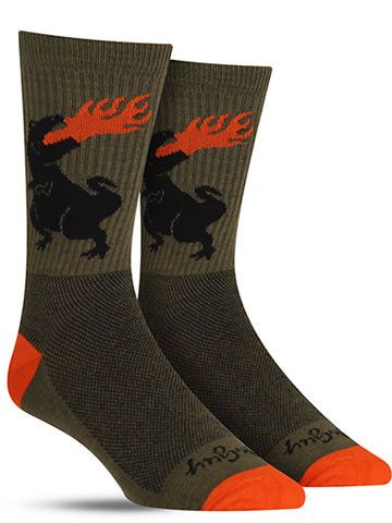 Dinosaur Wool Socks | Mens