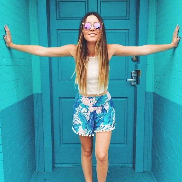"Sierra Furtado on Instagram: ""Uploaded a DIY Summer Clothes video!!... ❤ liked on Polyvore                                                                                                                                                     Más"