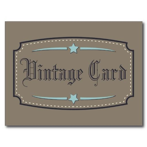 Vintage card post cards