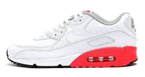 Nike Air Max 90 Premium – White – Black – Grey – Red