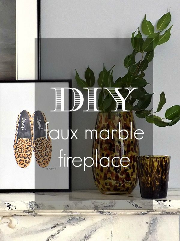 Faux marble fireplace                   Art Decoration and Crafting