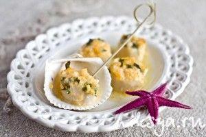 Морские гребешки запеченные в духовке