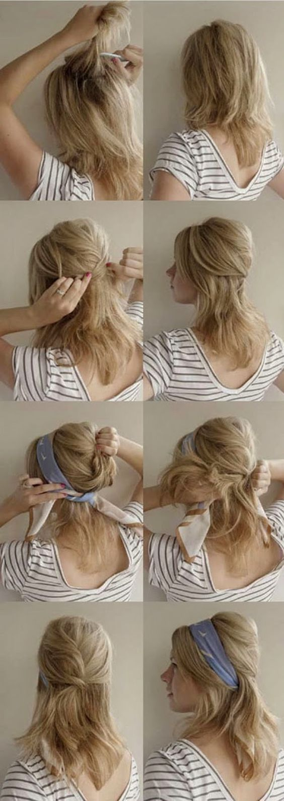 Hair + Scarf @Nikki Lanser Here is how you could do it with you hair :
