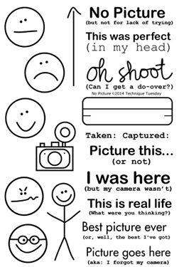 No Picture, Technique Tuesday.  What a cute way to annotate those moments without the camera.