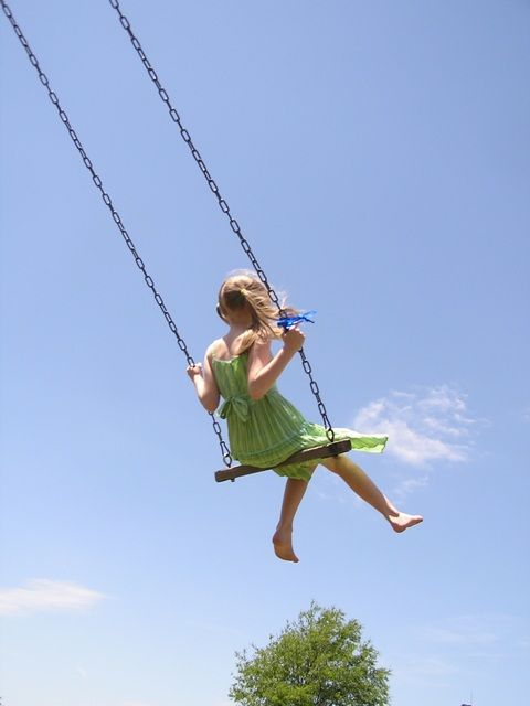 You know that feeling while you are swinging with all of your might and your tummy flips....yeah love that feeling.