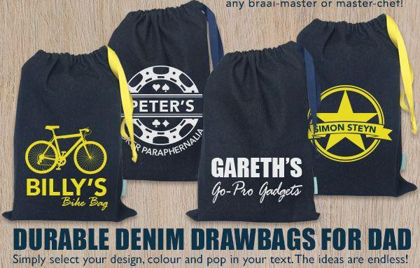 Personalised Drawstring Bags - personalise them online