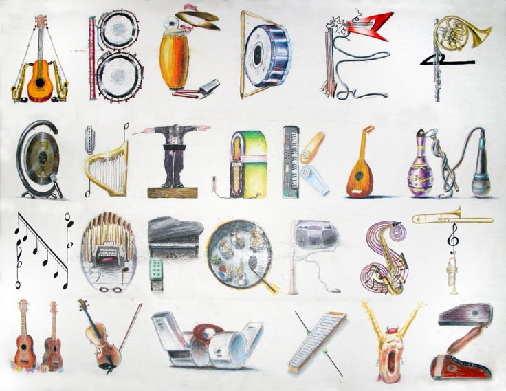 Each Letter Of This Musical Alphabet Contains Musical