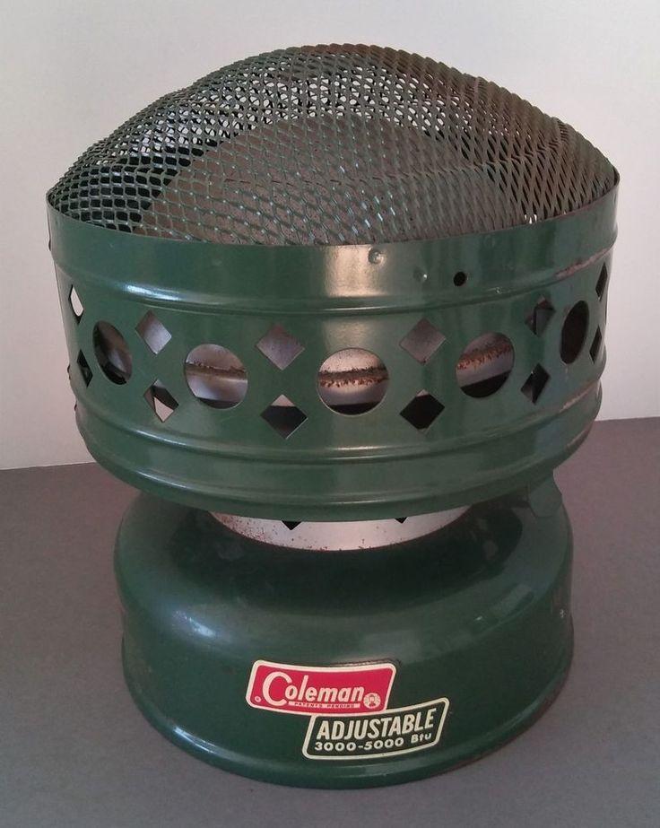 Vintage Coleman Camp Heater 1960s Adjustable 3000-5000 BTU Pre-Owned Untested #Coleman