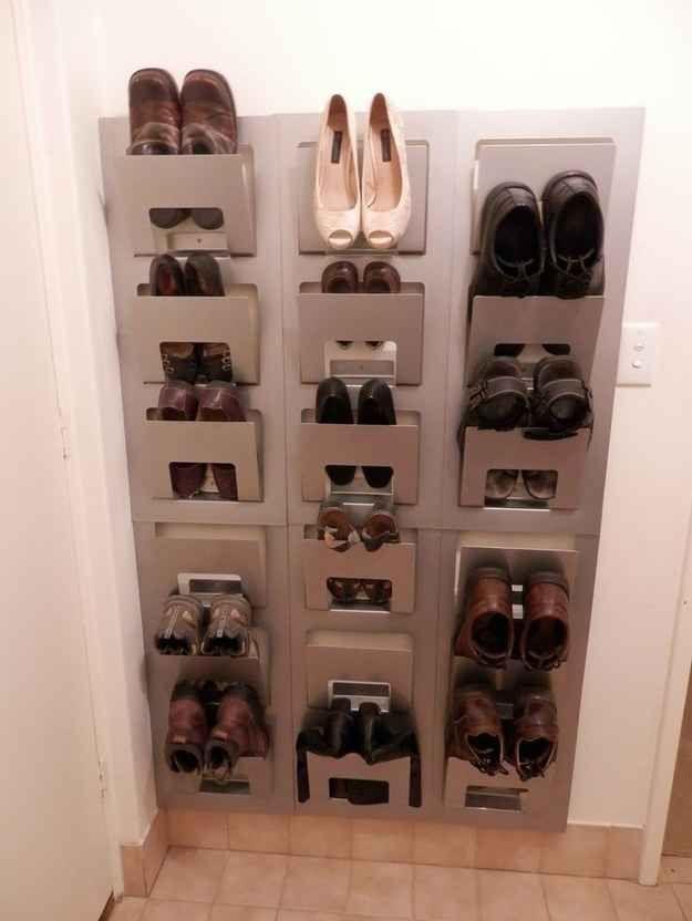 Auch eine geniale Art, Schuhe aufzubewahren: