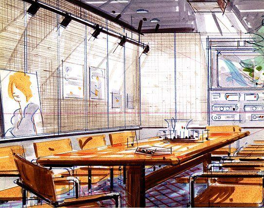 Die besten 25+ Interior design skizzen Ideen auf Pinterest - interieur design neuen super google zentrale