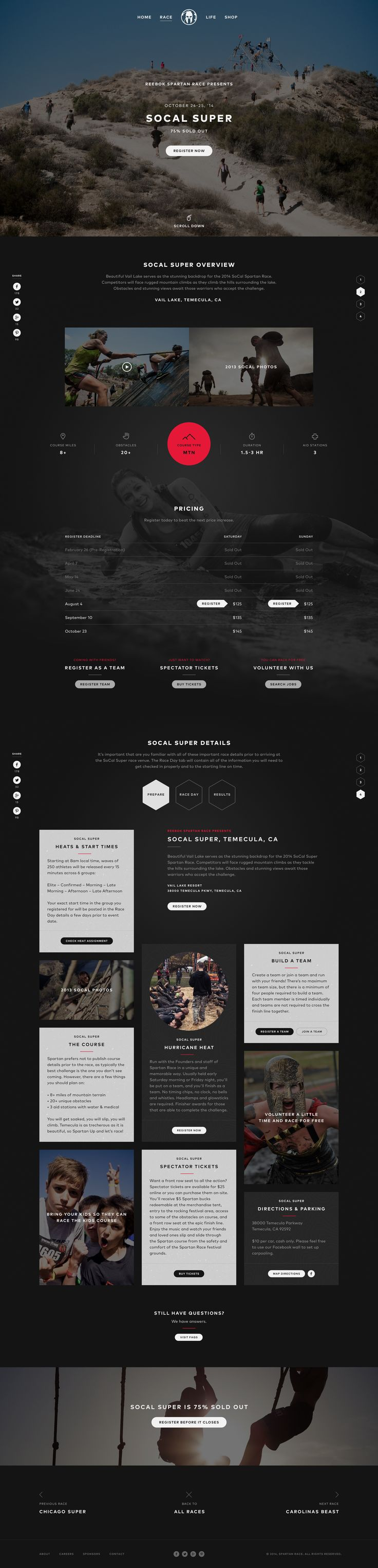 Race Microsite Progress by Patrick Walsh Following