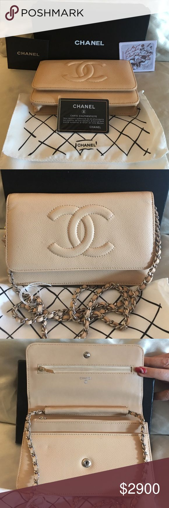 ❤️❤️❤️authentic  chanel clutch never used  this beautiful chanel authentic channel bag never used made in France comes in box and dust cover with authentic card this is a classy bag no flaws what so every as it has never been used please ask if need more pic or details.  Channel Bags Clutches & Wristlets