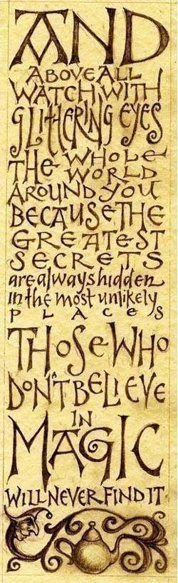 I believe in MAGIC...