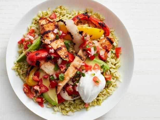 Get Turkey Fajita Rice Bowls Recipe from Food Network