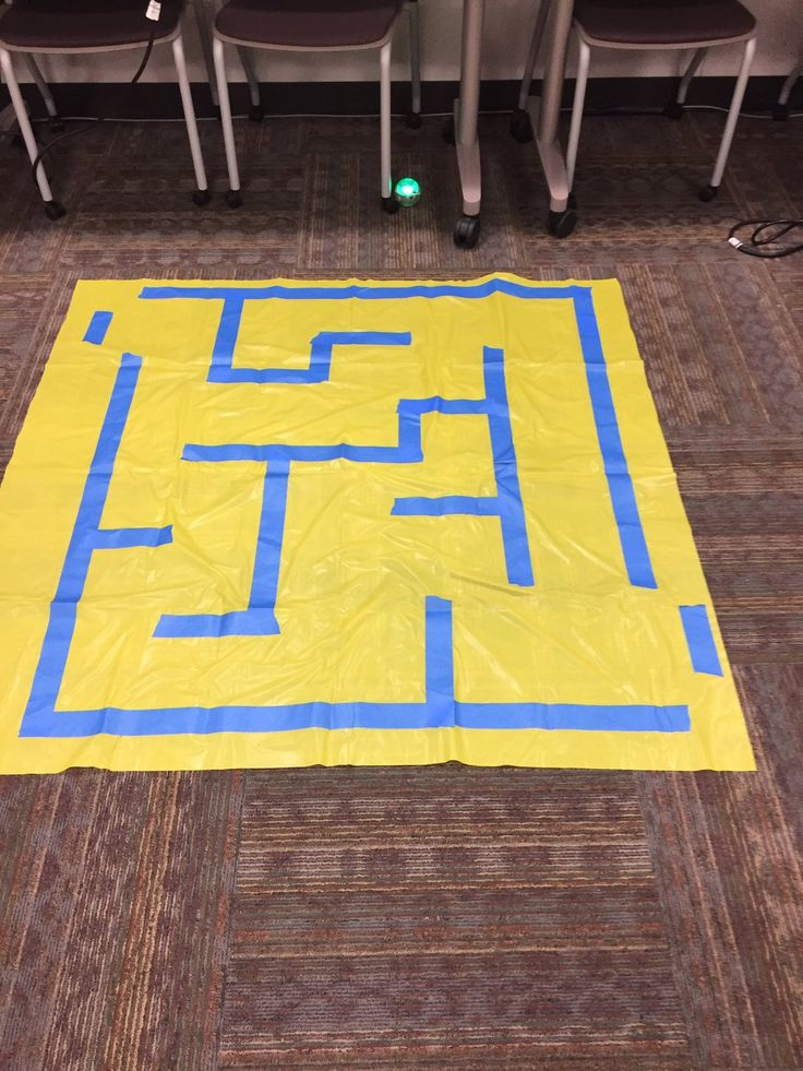 Plastic table cloth and tape for #Sphero maze