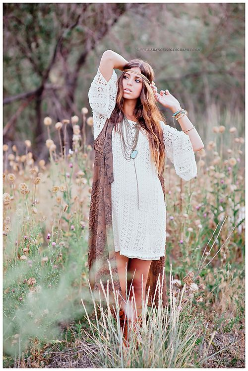 Fun boho look for seniors / France Photography