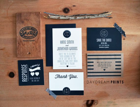 Modern Wedding Invitation // Daydream Prints