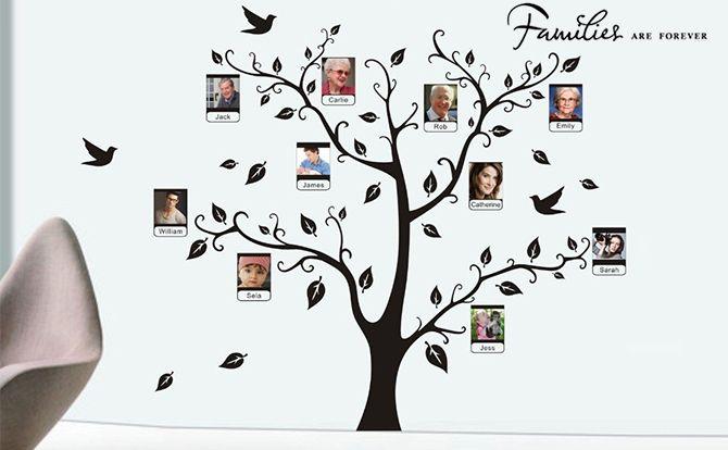 Wall-sticker family-tree