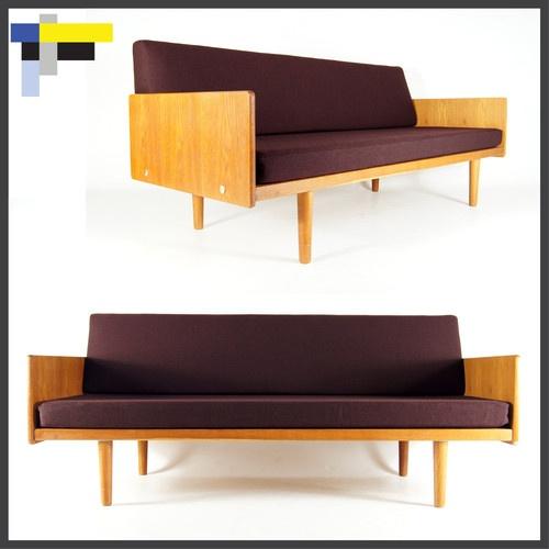 modern convertible furniture. retro vintage danish modern design oak day bed sofa chair 3 seat 1950s 60s 70s convertible furniture n