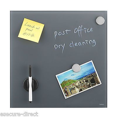 VonHaus Magnetic Glass Reminder Bulletin Memo Notice Message Board in 4 Colours