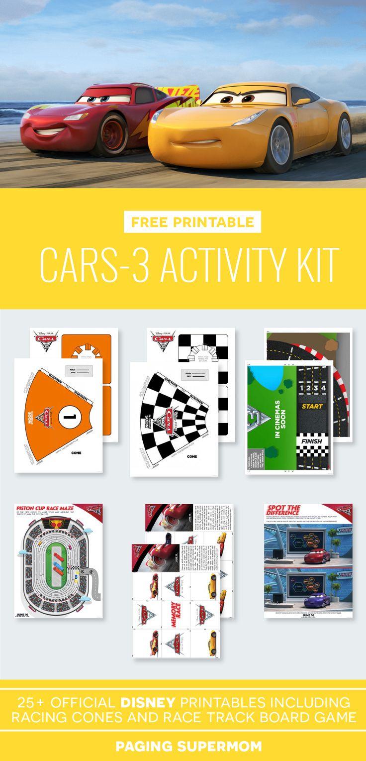Race track printable board games - Free Printable Cars3 Activity Pack Via Pagingsupermom