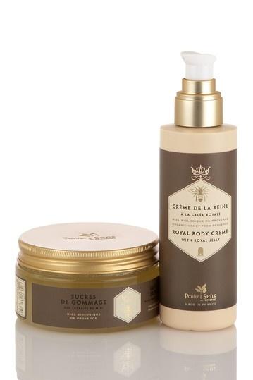 Panier des Sens Body Creme & Sugar Scrub Duo - Organic Honey