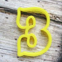 """Cookie cutter """" Number - 3 """" 10 cm"""