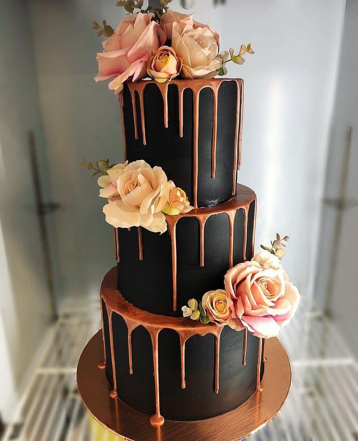 100 hübsche Hochzeitstorten, die Sie inspirieren – stimmungsvolle Hochzeitstorten-Ideen #weddingcake …   – Essen und Trinken