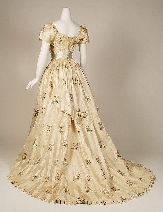 Dress, Evening  House of Worth  (French, 1858–1956)  Date: 1905–8 Culture: French Medium: silk, metallic thread