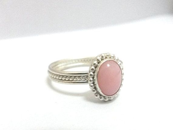 Anillo de ópalo rosa plata esterlina por ChihuahuaSilversmith