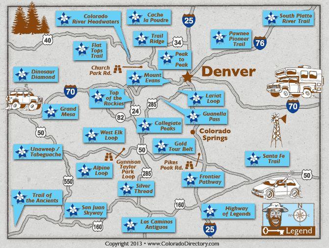 Colorado Scenic Byways Map | Colorado Scenic Byway Map | Colorado Vacation Directory