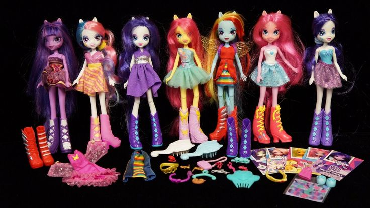 Hasbro MY LITTLE PONY Equestria Dolls and Pony Ponies & Accesoriesclothes Lot