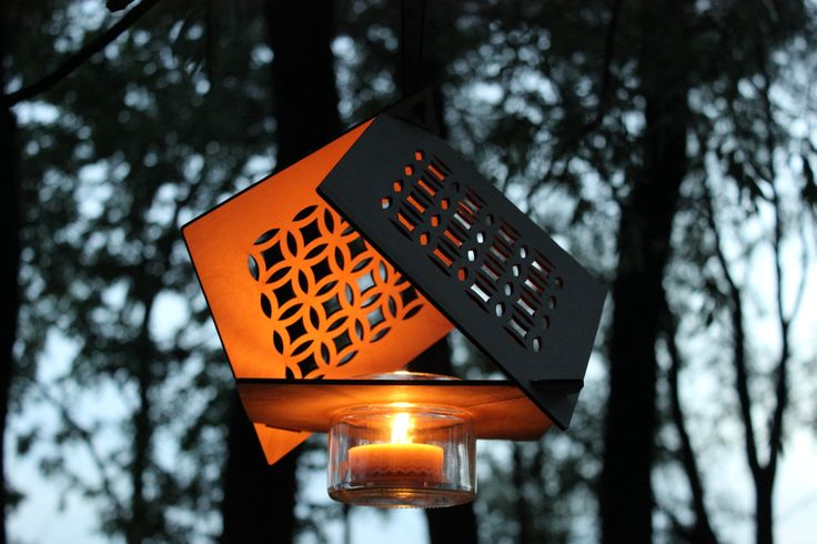 This is our lantern, when it is used outside! We think it looks really great! :)