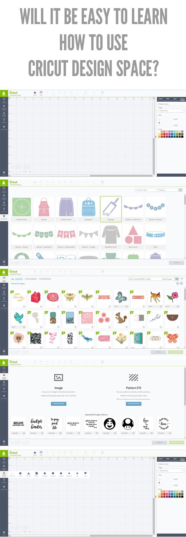 Will It Be Easy To Learn How To Use Cricut Design Space? Yes! Learn