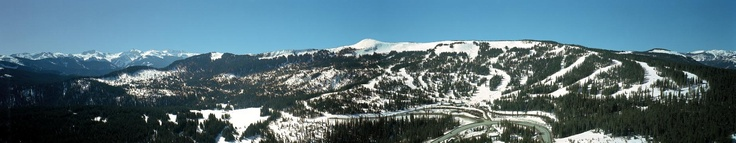 Panoramic view of Wolf Creek, CO
