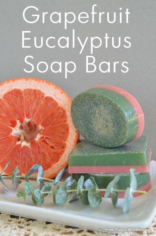 Grapefruit Eucalyptus Homemade Soap Bar Tutorial