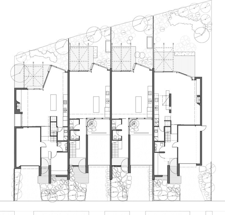 Image 12 of 13 from gallery of Elwood Townhouses / McAllister Alcock Architects. Ground Floor Plan