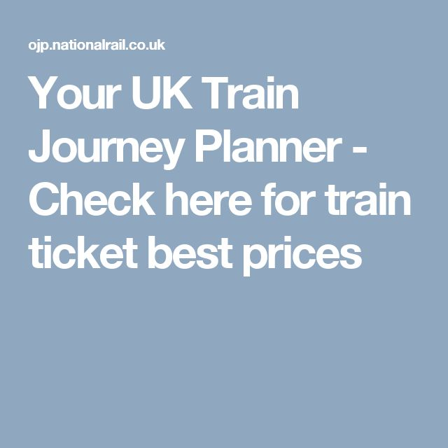 Your UK Train Journey Planner - Check here for train ticket best prices