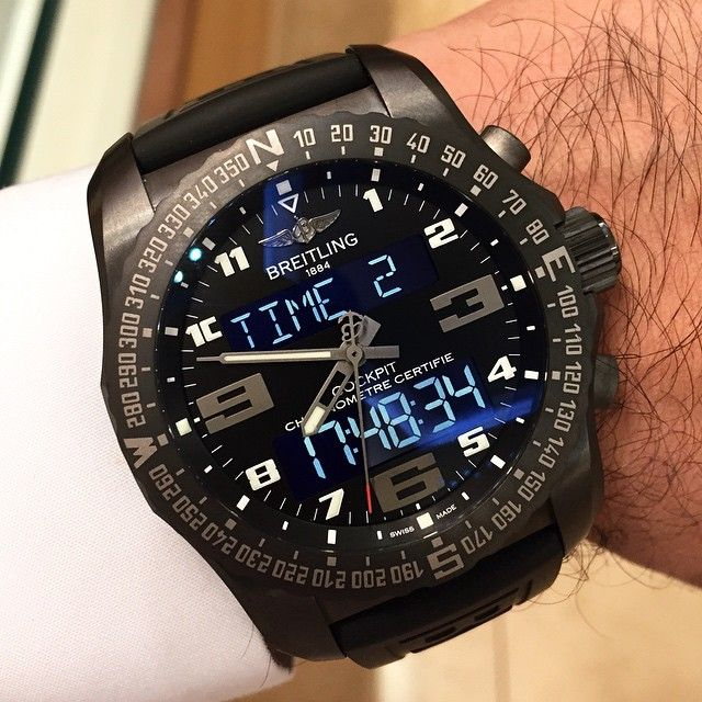 Cool wrist look with this Breitling Cockpit- Swiss Quartz!